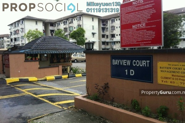 For Sale Apartment at Bayview Court, Old Klang Road Freehold Unfurnished 3R/2B 200k