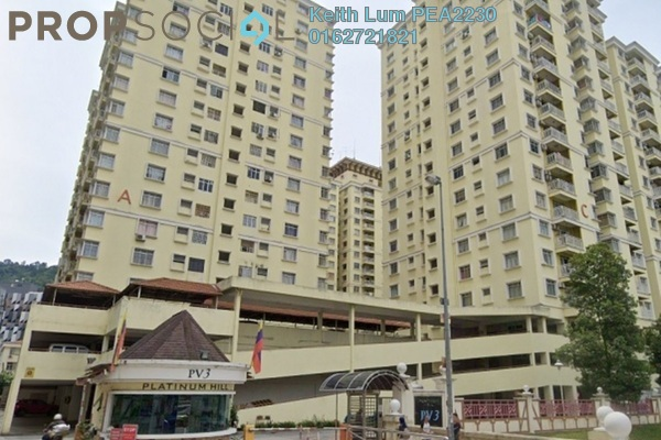 For Sale Condominium at Platinum Hill PV3, Setapak Freehold Fully Furnished 3R/2B 400k