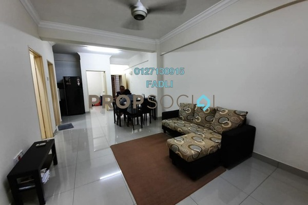 For Rent Apartment at Residensi Melor Bangi, Bandar Baru Bangi Freehold Fully Furnished 3R/2B 1.05k