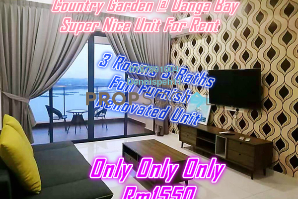 For Rent Condominium at Country Garden Danga Bay, Danga Bay Freehold Fully Furnished 3R/3B 1.55k