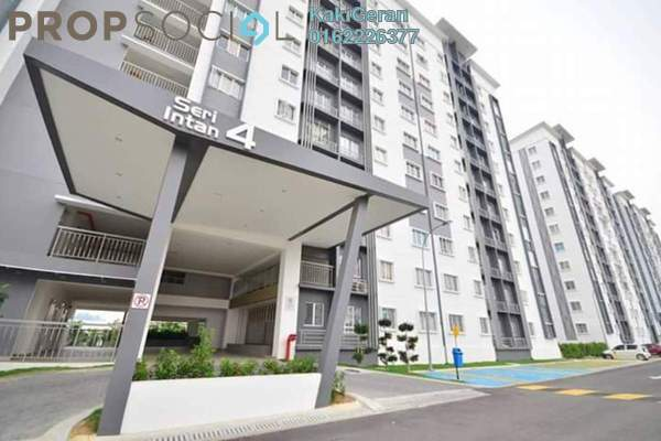 For Sale Apartment at Seri Intan Apartment, Setia Alam Freehold Unfurnished 3R/2B 270k