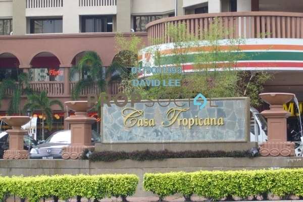 For Rent Condominium at Casa Tropicana, Tropicana Freehold Semi Furnished 2R/2B 1.6k