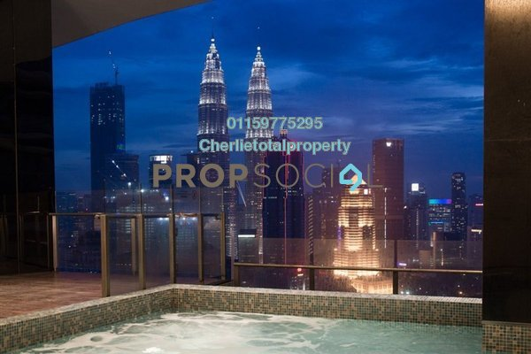 For Rent Condominium at Setia Sky Residences, KLCC Freehold Fully Furnished 3R/2B 3.1k