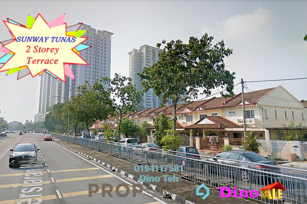 Terrace For Sale in Sunway Tunas, Bayan Baru Freehold Fully Furnished 4R/3B 920k