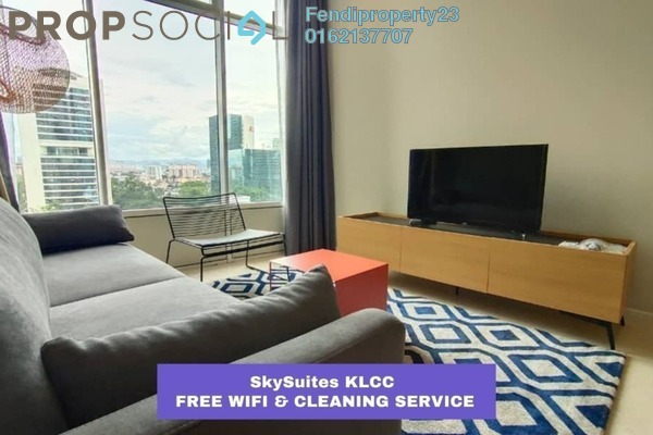 For Rent Condominium at Sky Suites @ KLCC, KLCC Freehold Fully Furnished 1R/1B 1k