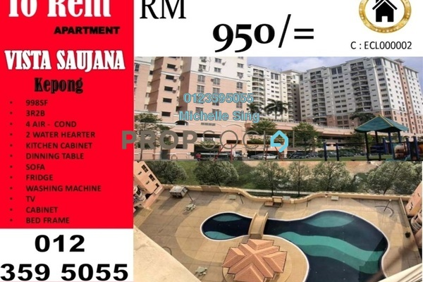 For Rent Apartment at Vista Saujana, Kepong Freehold Semi Furnished 3R/2B 950translationmissing:en.pricing.unit