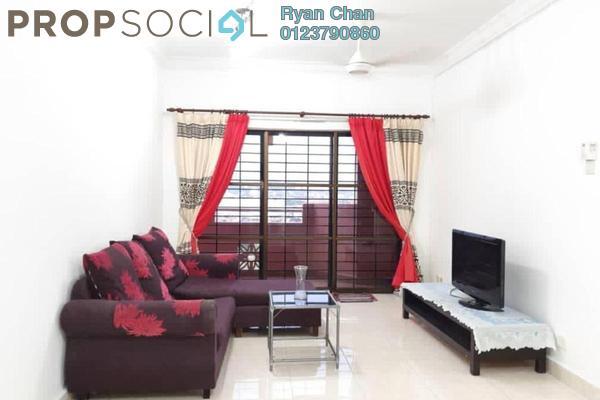 For Rent Condominium at Villamas Apartment, Bandar Puchong Jaya Freehold Semi Furnished 3R/2B 1.3k
