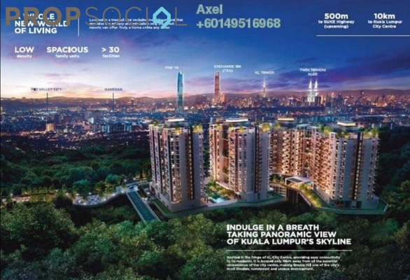 Condominium For Sale in Brezza One Residency, Ampang Jaya Freehold Fully Furnished 3R/3B 549k