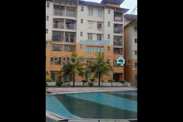 For Sale Apartment at Bayu Villa, Klang Freehold Semi Furnished 3R/2B 300k
