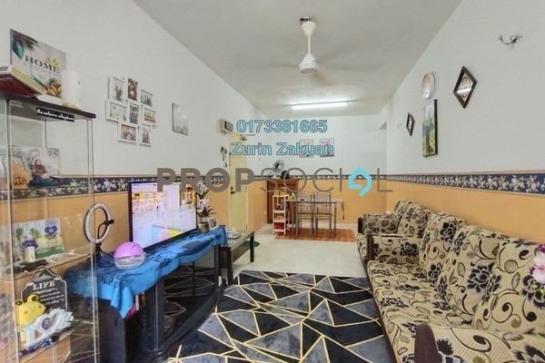 Apartment For Sale in Sri Melor Apartment, Ukay Freehold Semi Furnished 3R/2B 280k