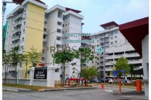For Sale Apartment at Kristal Heights, Shah Alam Freehold Unfurnished 3R/2B 388k