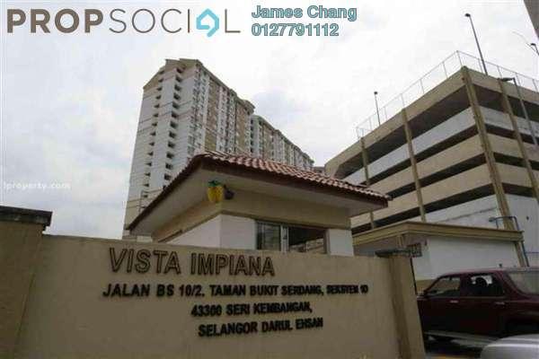 For Sale Apartment at Vista Impiana Apartment, Seri Kembangan Freehold Semi Furnished 1R/1B 130k