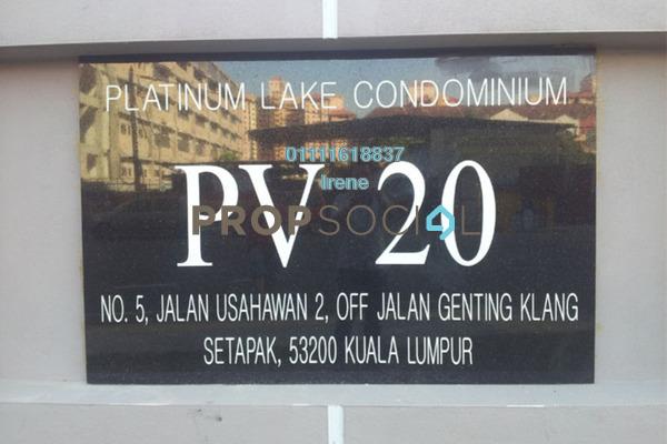 For Sale Condominium at Platinum Lake PV20, Setapak Freehold Semi Furnished 4R/2B 480k