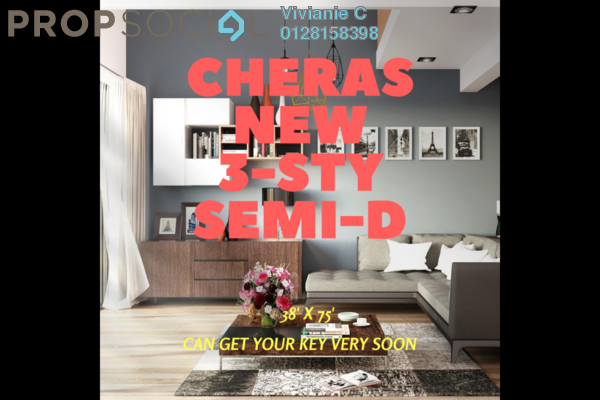 For Sale Semi-Detached at Section 1, Bandar Mahkota Cheras Freehold Unfurnished 6R/4B 1.42m