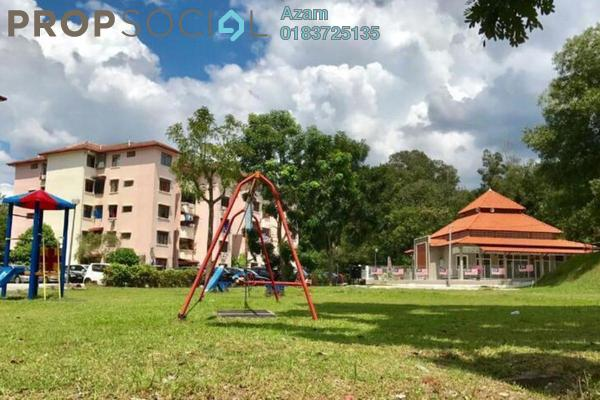Apartment For Rent in Sri Raya Apartment, Ukay Freehold Semi Furnished 3R/2B 1.05k