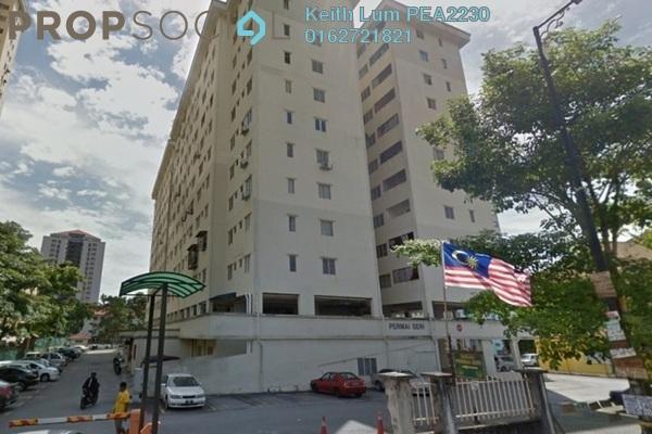 For Rent Apartment at Permai Seri Apartment, Ampang Freehold Semi Furnished 3R/2B 1.25k