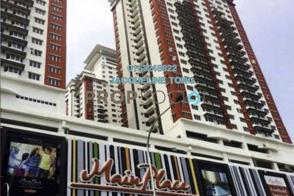 Serviced Residence For Sale in Main Place Residence, UEP Subang Jaya Freehold Unfurnished 2R/1B 388k