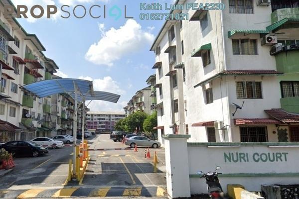 For Rent Apartment at Nuri Court, Pandan Indah Freehold Unfurnished 3R/2B 1k