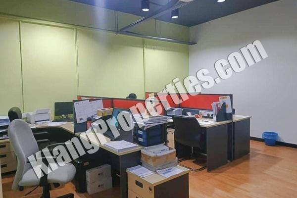 For Rent Office at Bandar Bukit Tinggi 1, Klang Freehold Fully Furnished 0R/0B 3.5k