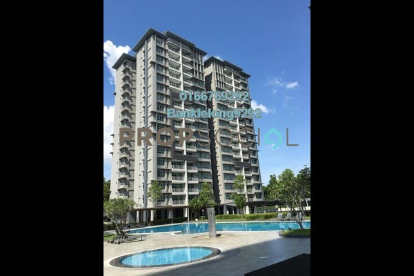 Condominium For Sale in BP14, Bandar Bukit Puchong Freehold Semi Furnished 3R/2B 256k