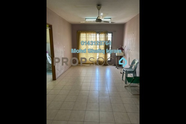 For Rent Apartment at Pusat Komersial, Shah Alam Freehold Fully Furnished 3R/2B 1.1k