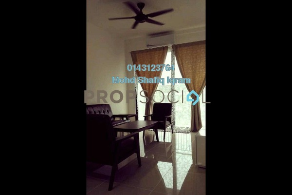For Rent Apartment at Ken Rimba, Shah Alam Freehold Semi Furnished 3R/2B 1.6k