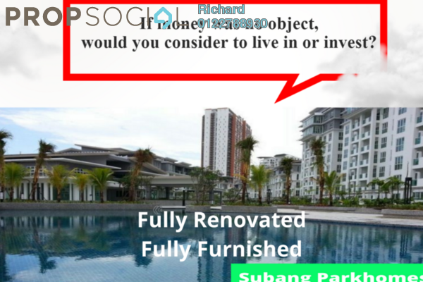 For Sale Serviced Residence at Subang Parkhomes, Subang Jaya Freehold Fully Furnished 3R/2B 800k