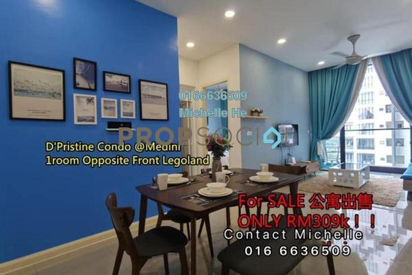 Condominium For Sale in D'Pristine, Medini Leasehold Fully Furnished 1R/1B 309k