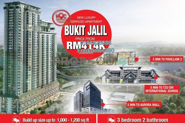 Apartment For Sale in Residensi Bintang, Bukit Jalil Leasehold Unfurnished 3R/2B 414k