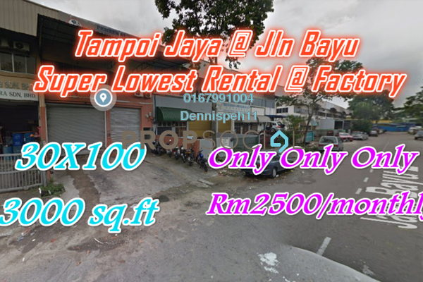 For Rent Factory at Taman Tampoi Indah, Johor Bahru Freehold Unfurnished 0R/0B 2.5k