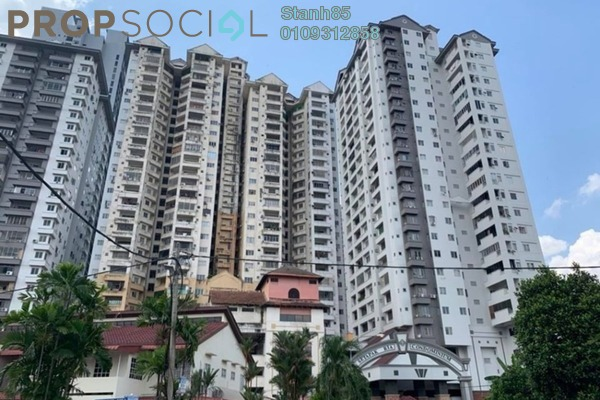 Condominium For Sale in Setapak Ria Condominium, Setapak Freehold Semi Furnished 3R/2B 263k