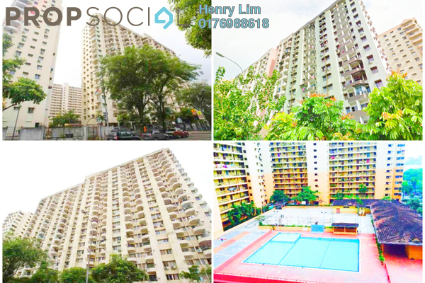 For Rent Apartment at Palm Court, Brickfields Freehold Fully Furnished 2R/1B 1.7k