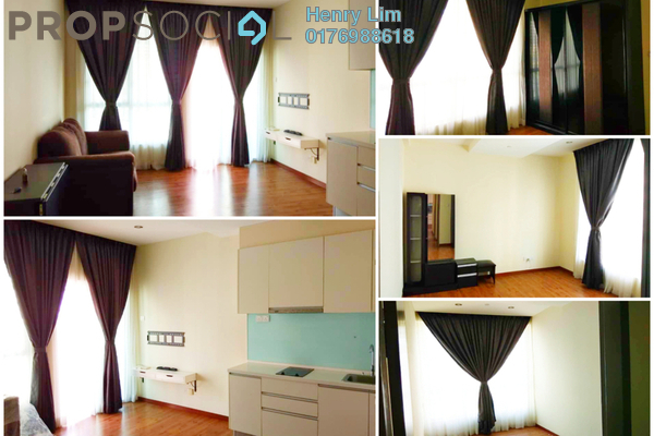 For Rent Serviced Residence at ZetaPark, Setapak Freehold Semi Furnished 2R/1B 1.5k