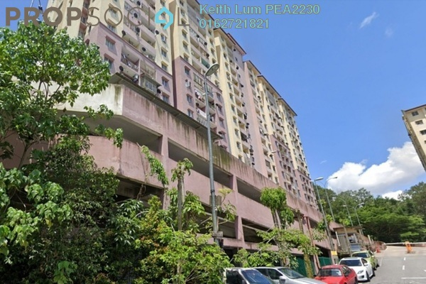 For Rent Apartment at Permai Prima Apartment, Ampang Freehold Semi Furnished 3R/2B 1.1k