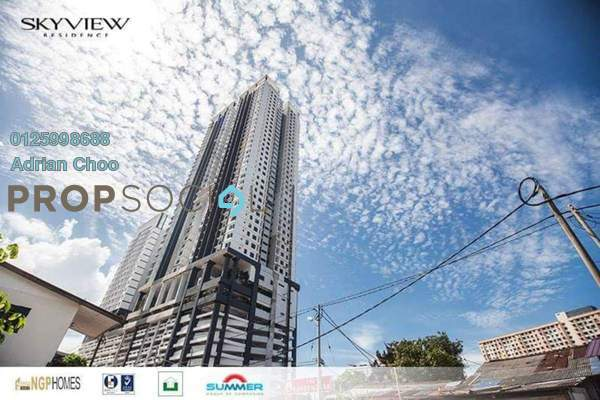 For Sale Condominium at Skyview Residence, Jelutong Freehold Unfurnished 4R/2B 680k