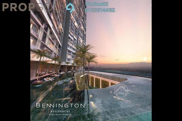 For Rent Condominium at Bennington Residences, Setapak Freehold Fully Furnished 3R/2B 3k