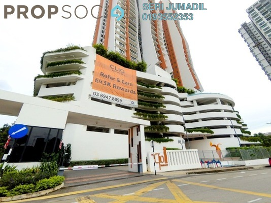 Condominium For Sale in The Clio Residences, IOI Resort City Freehold unfurnished 3R/2B 680k