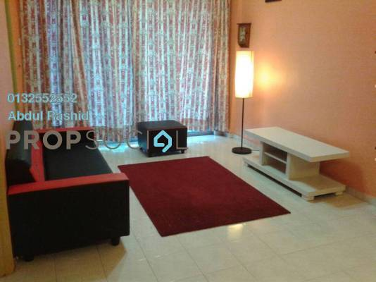 For Rent Apartment at Datin Halimah, Johor Bahru Freehold Semi Furnished 3R/2B 1.1k