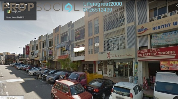 Shop For Sale in Section 6, Bandar Mahkota Cheras Freehold Semi Furnished 0R/0B 1.82m