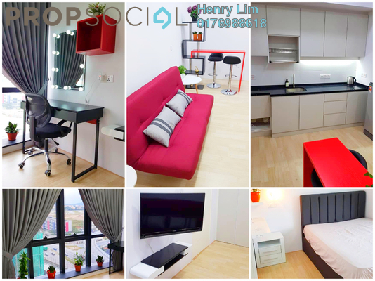 For Rent SoHo/Studio at REV.O @ Bukit Jalil City, Bukit Jalil Freehold Fully Furnished 0R/1B 1.8k