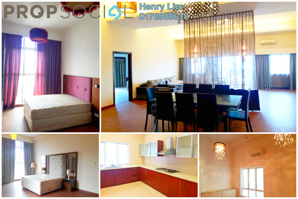 For Rent Serviced Residence at Waldorf Tower, Sri Hartamas Freehold Semi Furnished 4R/4B 5.5k
