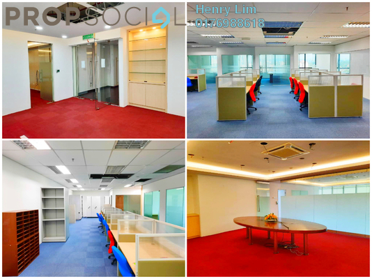 For Rent Office at PJX, PJ State Freehold Semi Furnished 0R/0B 15k