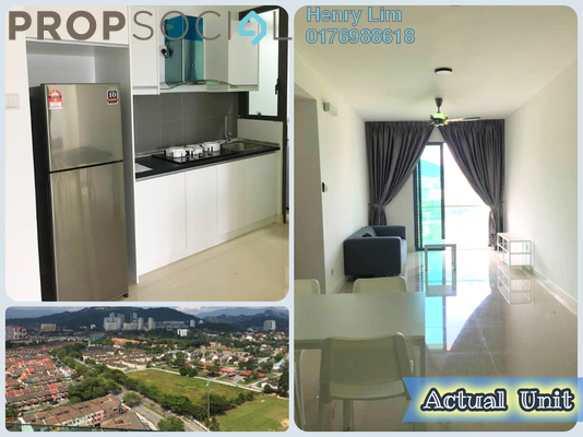 For Rent Serviced Residence at Danau Kota Suite Apartments, Setapak Freehold Fully Furnished 3R/2B 1.85k