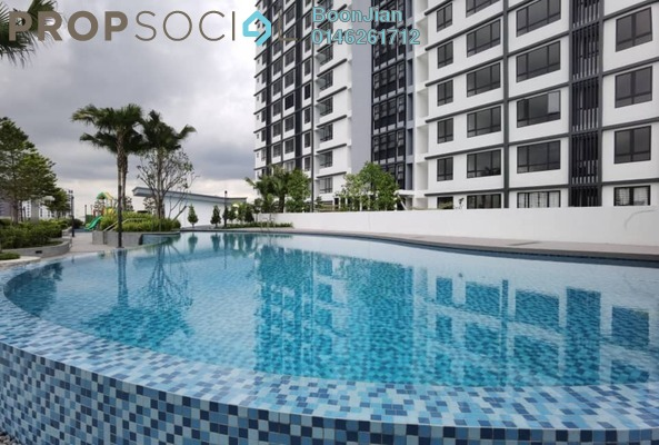 For Rent Apartment at Hillpark Residence, Semenyih Freehold Semi Furnished 3R/2B 1.2k