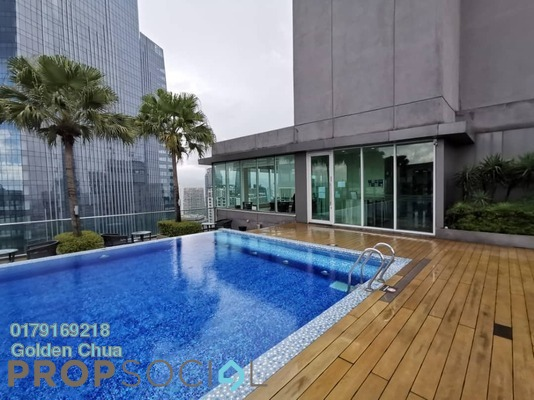 Serviced Residence For Rent in Vipod Suites, KLCC Freehold Fully Furnished 2R/1B 2.2k