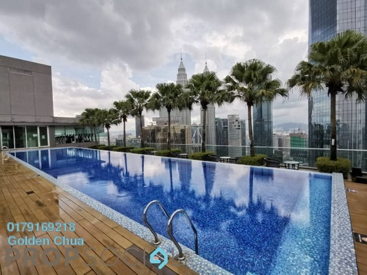 Serviced Residence For Rent in Vipod Suites, KLCC Freehold Fully Furnished 2R/2B 4.3k