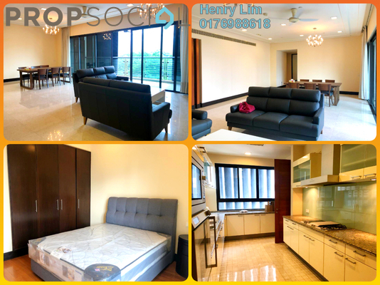 For Rent Condominium at The Binjai On The Park, KLCC Freehold Fully Furnished 3R/4B 15k