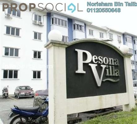 Apartment For Rent in Pesona Villa, Kemensah Freehold semi_furnished 3R/2B 1.1k