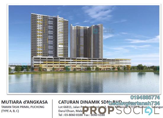 For Sale Apartment at Taman Puchong Perdana, Puchong Freehold Semi Furnished 3R/2B 230k