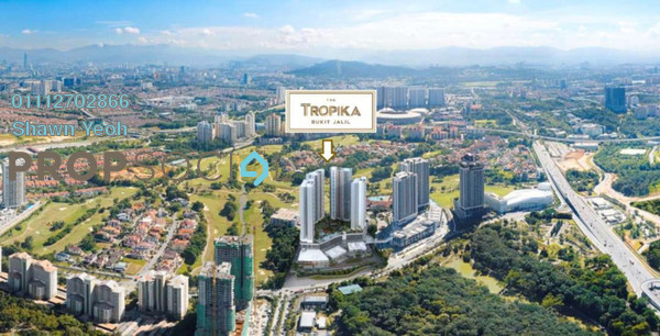 Serviced Residence For Sale in The Tropika, Bukit Jalil Freehold Unfurnished 2R/2B 576k